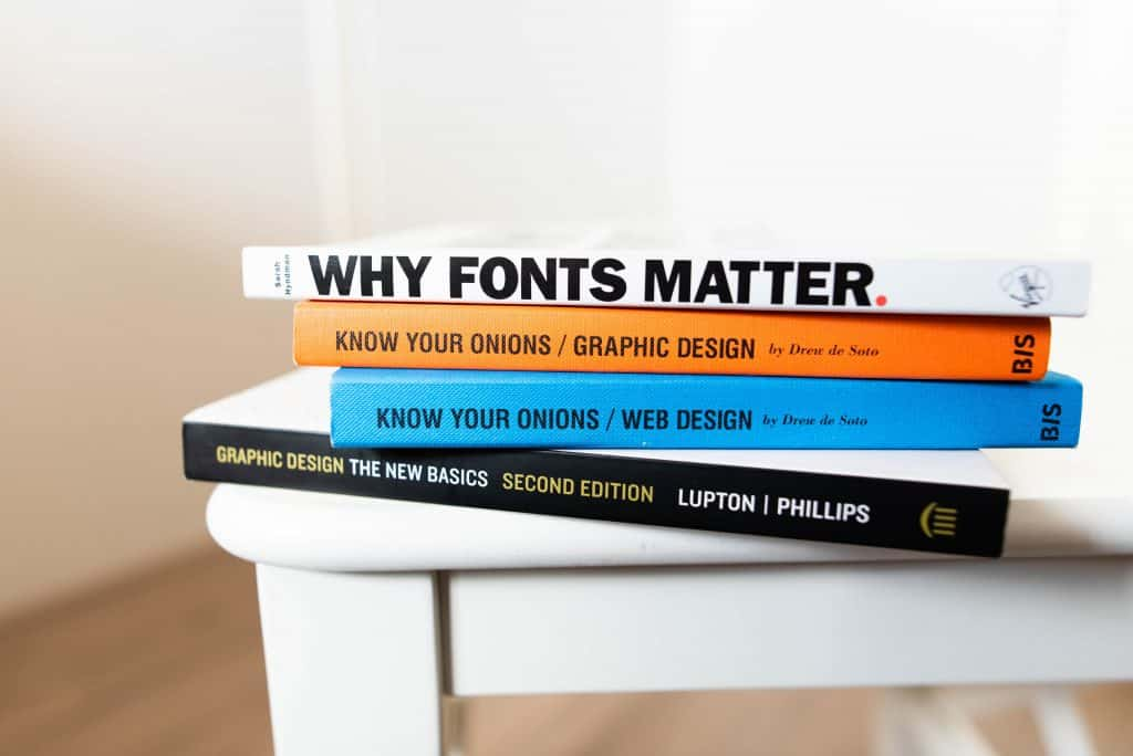 Books about the value of graphic design.